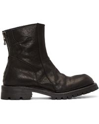Julius - Black Slashing Engineer Boots - Lyst