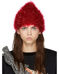 Undercover - Red Glossy Film Beanie - Lyst