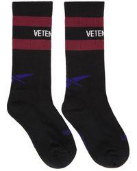 Vetements - Black Reebok Edition Classic Socks - Lyst