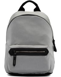 Lanvin - Grey Patches Zipped Backpack - Lyst