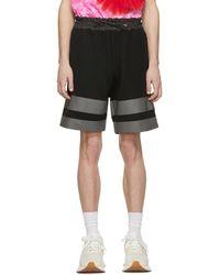 Sacai - Black Sponge Sweat Shorts - Lyst