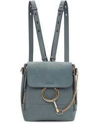 Chloé - Blue Small Faye Backpack - Lyst