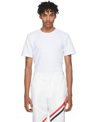 Thom Browne - White Relaxed Fit T-shirt - Lyst