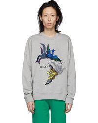 KENZO - Grey Phoenix Sweatshirt - Lyst