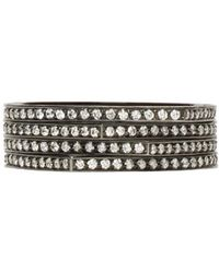 Repossi - Black Gold And Diamond Pave Four-band Antifer Ring - Lyst