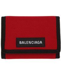Balenciaga - Red Explorer Wallet - Lyst
