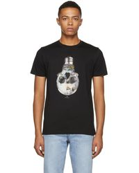 PS by Paul Smith - Black Slim Fit Skull T-shirt - Lyst