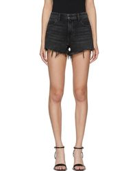 Alexander Wang - Grey Denim Bite Shorts - Lyst