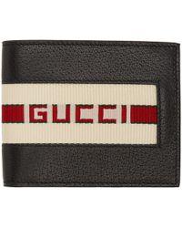 Gucci - ブラック ロゴ バンド ウォレット - Lyst