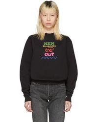 Balenciaga - Black New Logo Sweatshirt - Lyst