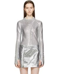 Paco Rabanne - Silver Metallic Pullover - Lyst