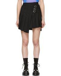 McQ - Black Wrap Kilt Miniskirt - Lyst