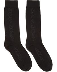 Versace - Black Logo Socks - Lyst