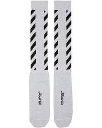 Off-White c/o Virgil Abloh - Glitter Diagonal Socks - Lyst