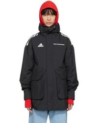 Gosha Rubchinskiy - Black Adidas Originals Edition Hardshell Coat - Lyst