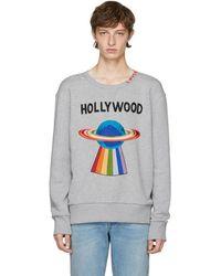 Gucci - Grey 'hollywood' Saturn Sweatshirt - Lyst