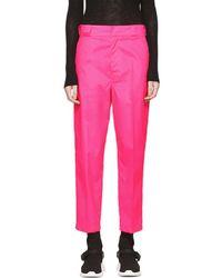 Prada - Pink Techno Logo Trousers - Lyst
