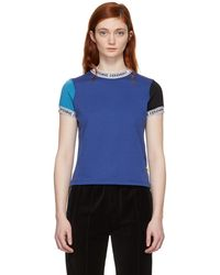 Opening Ceremony - Blue Banded Neck T-shirt - Lyst