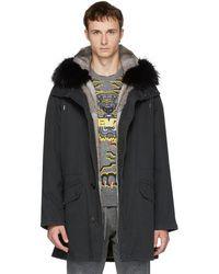 Yves Salomon - Black Original Fur Parka - Lyst