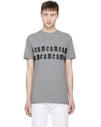 McQ - Grey Repeat Logo T-shirt - Lyst