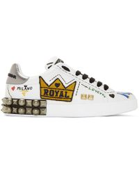 Dolce & Gabbana - White Kings Of Love Trainers - Lyst