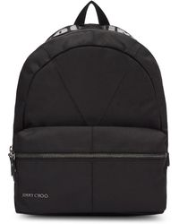 Jimmy Choo - Black Canvas Reed Backpack - Lyst
