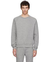 John Elliott - Grey Raglan Sweatshirt - Lyst