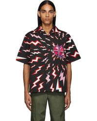 Prada Lightning Short Sleeve Shirt - Black