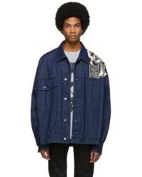 Raf Simons - Navy Denim Oversized Punkette Jacket - Lyst