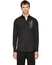 Dolce & Gabbana - Black King Skeleton Shirt - Lyst