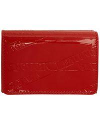 Balenciaga - Red Mini Ville Wallet - Lyst