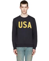 Palm Angels - Navy Usa Pullover - Lyst
