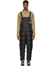 The North Face - Black Nuptse Bib Trousers - Lyst
