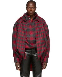 Y. Project - Red And Black Skinny Double Shirt - Lyst