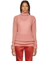 Nina Ricci - Pink Mohair And Wool Turtleneck - Lyst