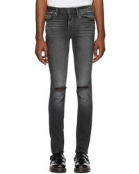 FRAME - Grey Lhomme Skinny Jeans - Lyst