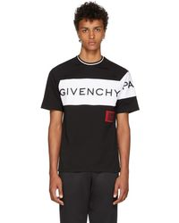 Givenchy - Black And White Embroidered Signature T-shirt By - Lyst