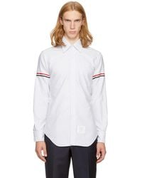 Thom Browne - Grey Classic Point Collar Grosgrain Armband Shirt - Lyst
