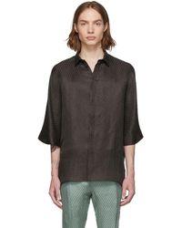 Haider Ackermann - Brown Silk Kimono Long Shirt - Lyst
