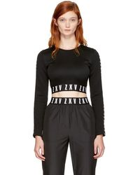Versus - Black Zayn Edition Cropped T-shirt - Lyst