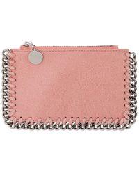 Stella McCartney - Pink Falabella Zip Card Holder - Lyst