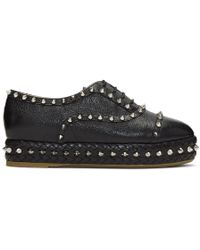Charlotte Olympia - Black Studded Hoxton Oxfords - Lyst