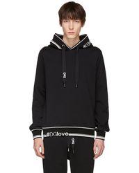 Dolce & Gabbana - Black Logo Hoodie - Lyst