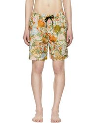 Burberry - Orange Flower Guildes Swim Shorts - Lyst