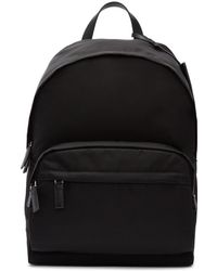 Prada - Black Nylon Backpack - Lyst