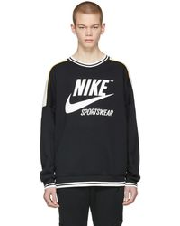 Nike - Black And White Archive 90s Sweatshirt - Lyst
