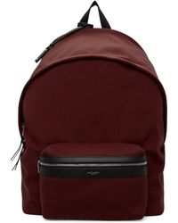 Saint Laurent - Red Canvas City Backpack - Lyst
