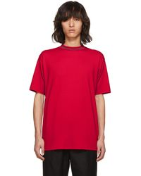 Acne   Ssense Exclusive Red Navid T-shirt   Lyst