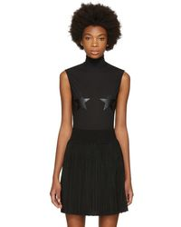 Givenchy - Black Tulle Stars Bodysuit - Lyst
