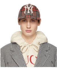 393b253d788 Gucci - Multicolour Ny Yankees Edition Plaid Patch Cap - Lyst